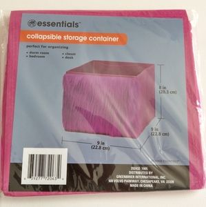 Essentials, Collapsible Storage Container, NEW